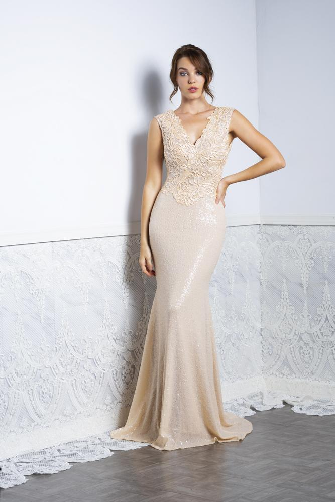 Baccio Priscilla Sequins Long Dress