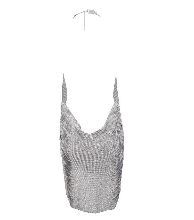 Jessica Bara Kenny Side Cut Out Crystal Mini Dress