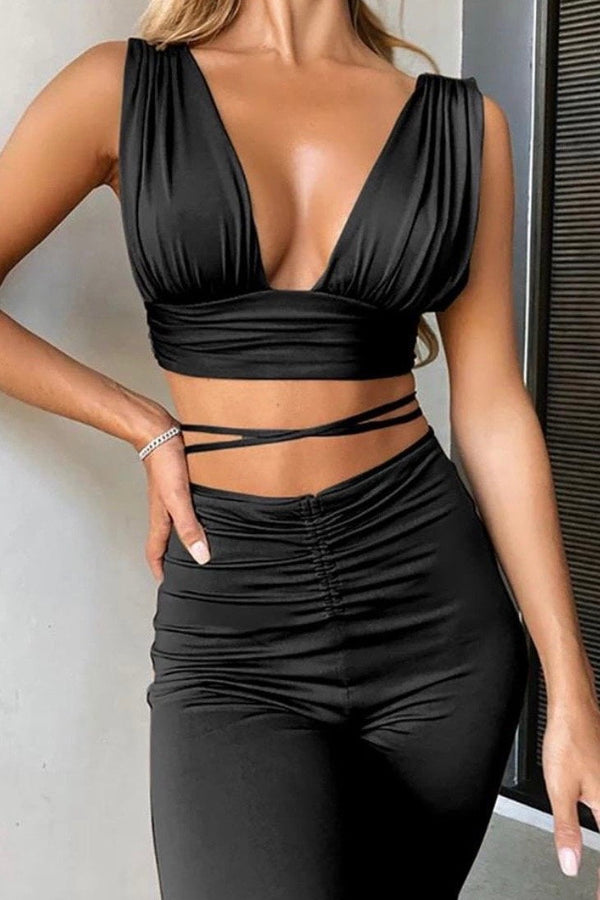 Jessica Bara Skai Two Piece Flared Set