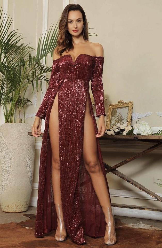 Jessica Bara Jessia Open Slit Dress