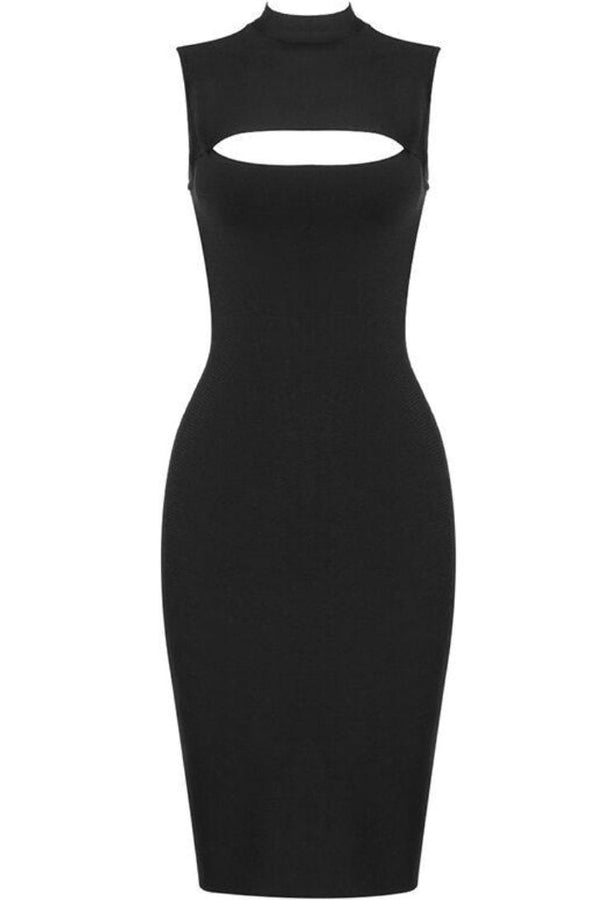 Jessica Bara Harley Sleeveless Front Cut Out Mini Dress