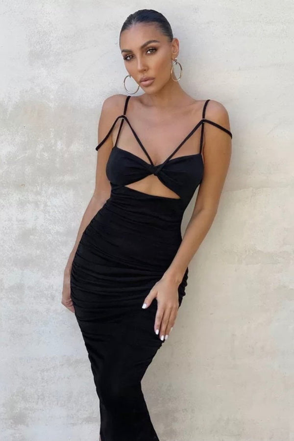 Jessica Bara Magnolia Strappy Cut Out Maxi Dress
