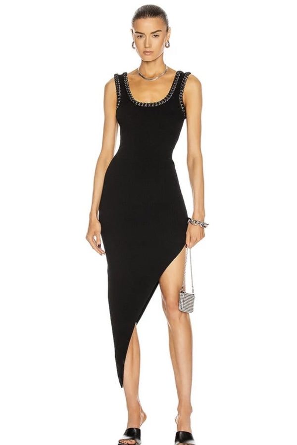 Jessica Bara Vicky Asymmetrical Tank Dress