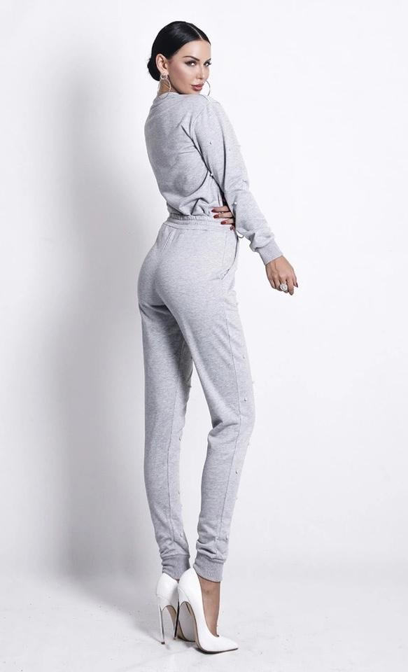 Jessica Bara Angelica Long Sleeve Sporty Jumpsuit