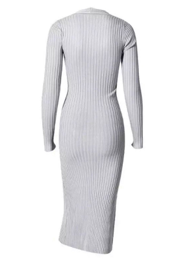 Jessica Bara Yvette Knit Long Sleeve Midi Dress