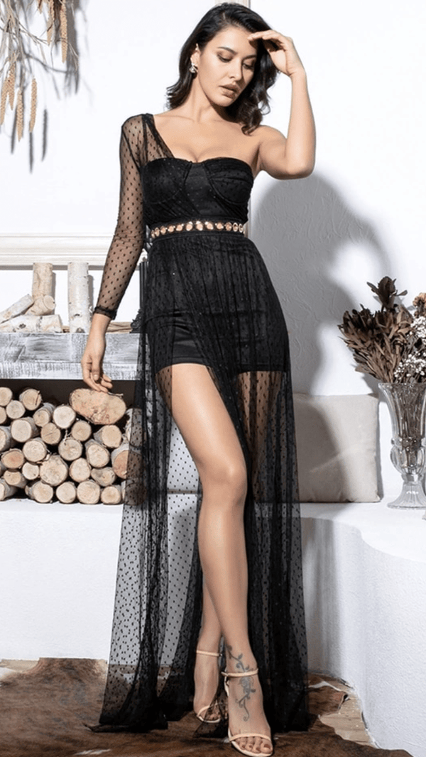 Jessica Bara Simona Lace Maxi Dress