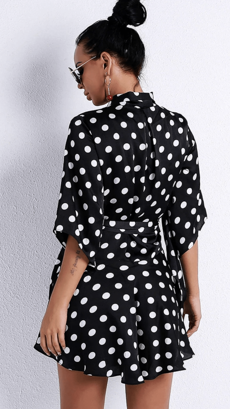 Jessica Bara Tiff Polka Dot Mini Dress