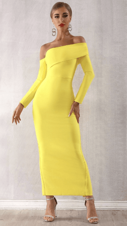 Jessica Bara Iliana One Shoulder Midi Dress