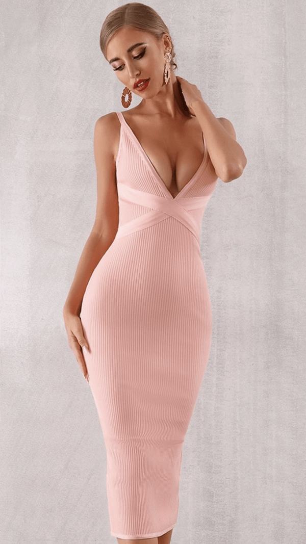 Jessica Bara Barbie Bodycon Bandage Midi Dress