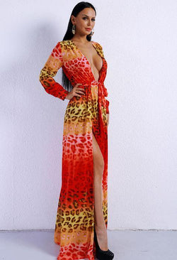 Jessica Bara Ela Two Split Maxi Dress