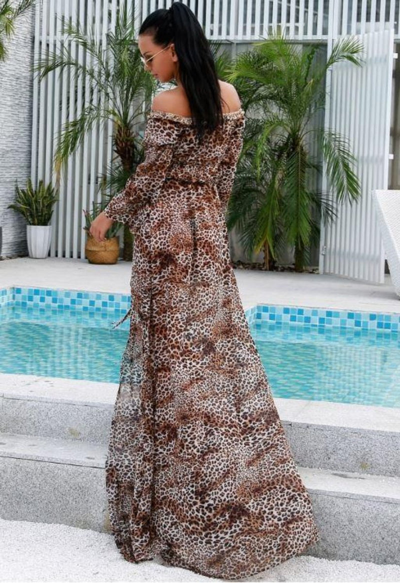 Jessica Bara Kaat High Split Maxi Dress
