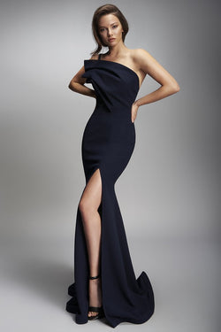 Nicole Bakti High Slit Sleeveless Long Dress