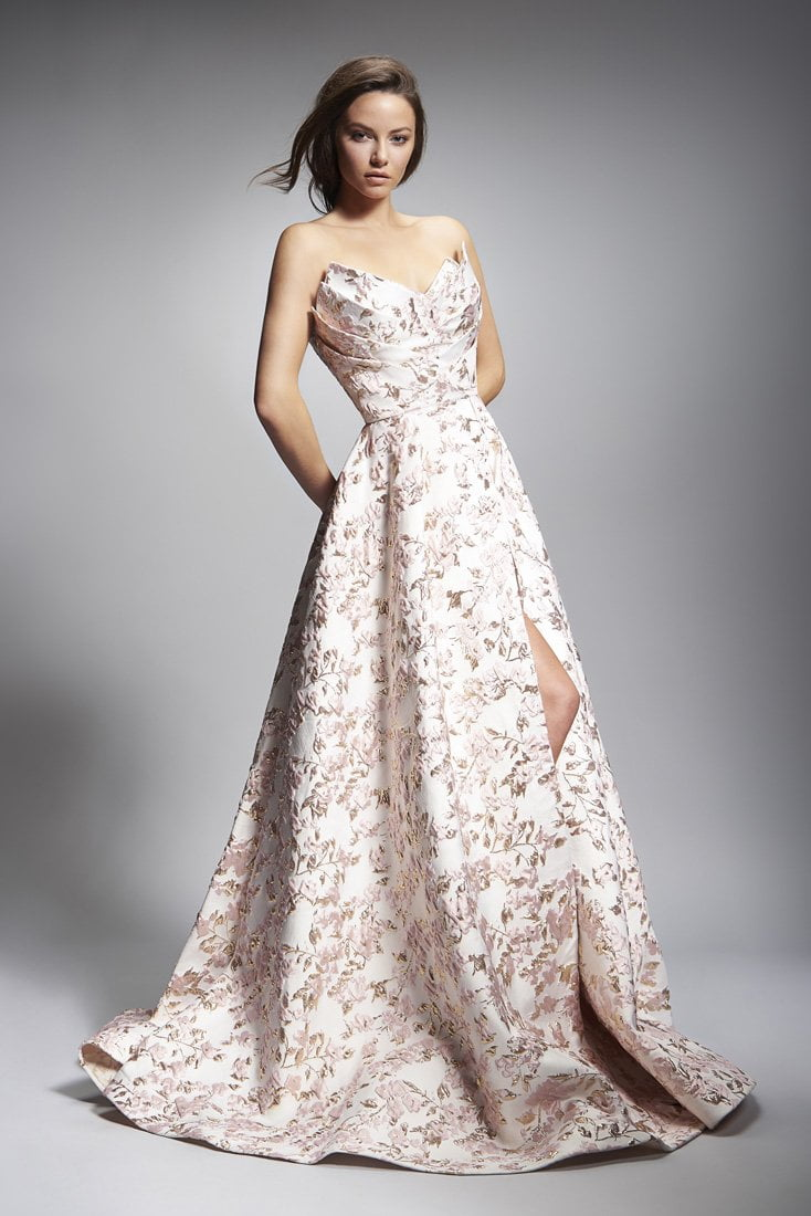 Nicole Bakti Sweetheart Embellished Ball Gown