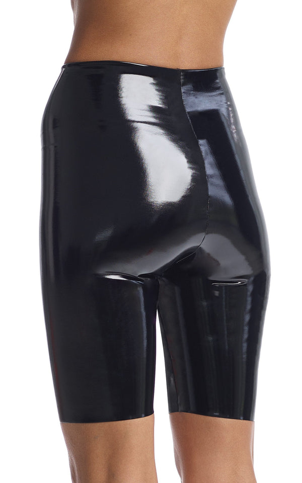 Commando Faux Patent Leather Biker Short