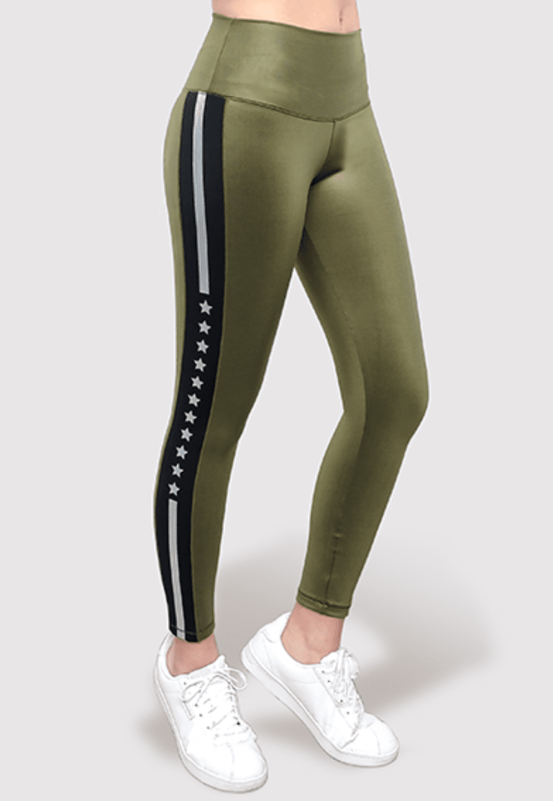 Active Fit Silver Stripe Legging