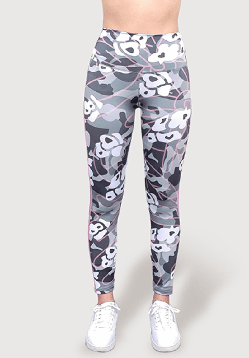 Active Fit Pink Striped Camo Legging