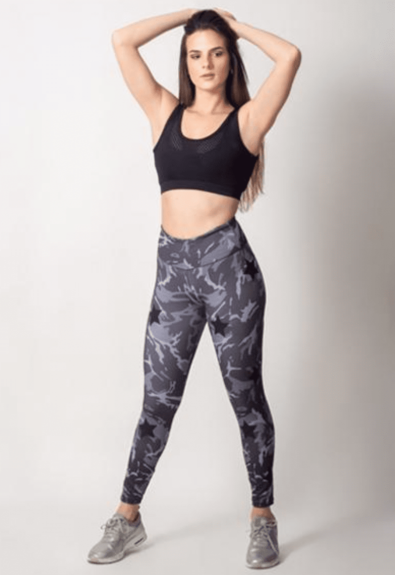 Active Fit Star Camo Legging
