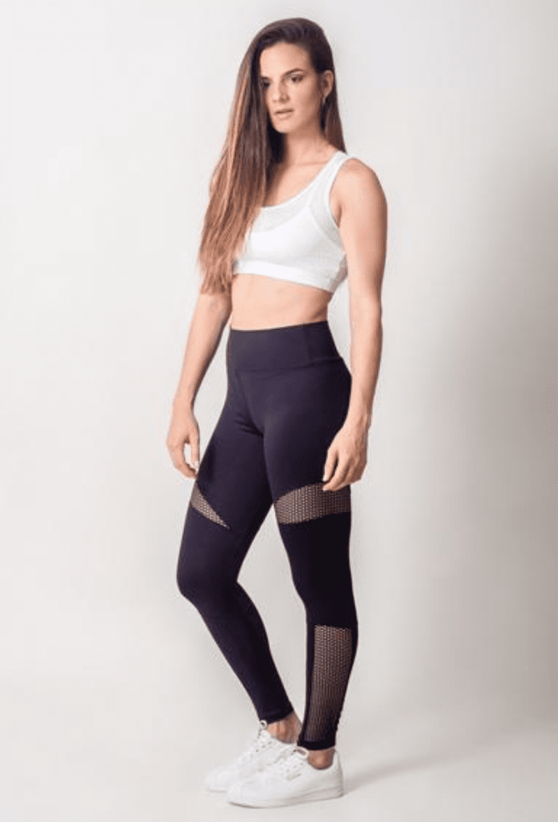 Active Fit High Waist Mesh Legging