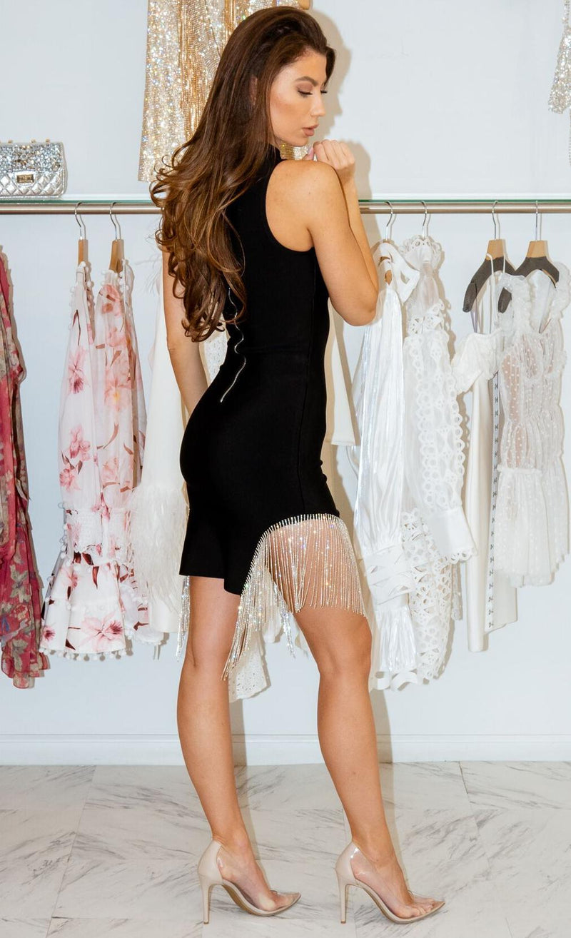 Jessica Bara Mindy Tassel Fringe Bodycon Dress