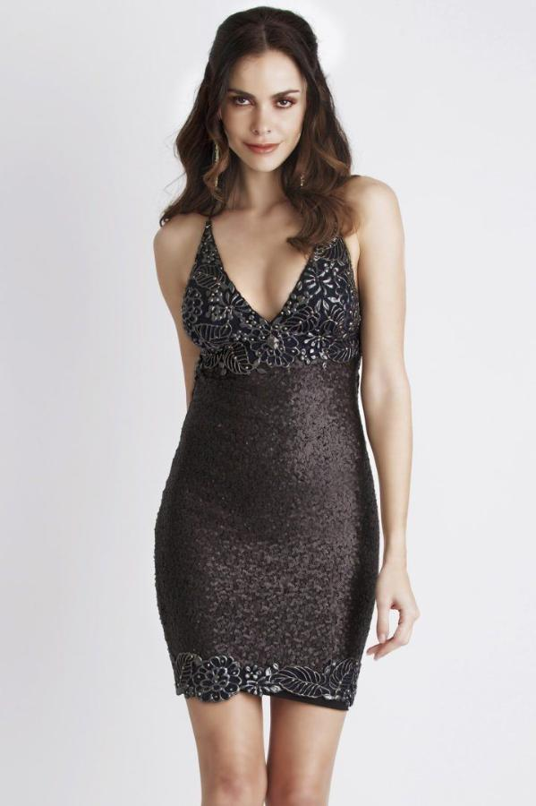 All Dresses - Baccio Couture Becky Sequin Painted Short