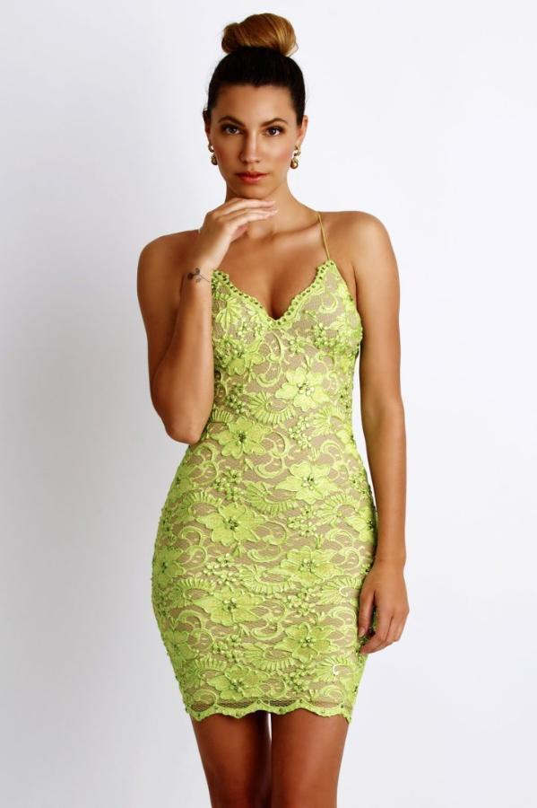 All Dresses - Baccio Couture Magda Paint Caviar Short