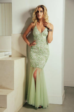 All Dresses - Baccio Gem Collection Karla Painted Caviar Long Dress