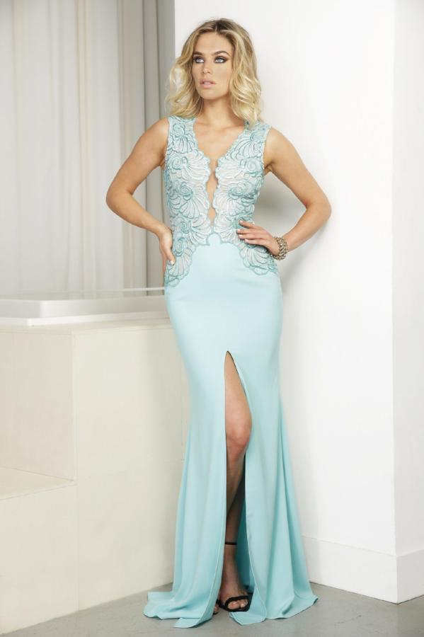 All Dresses - Baccio Gem Collection Mila Painted Caviar Long Dress