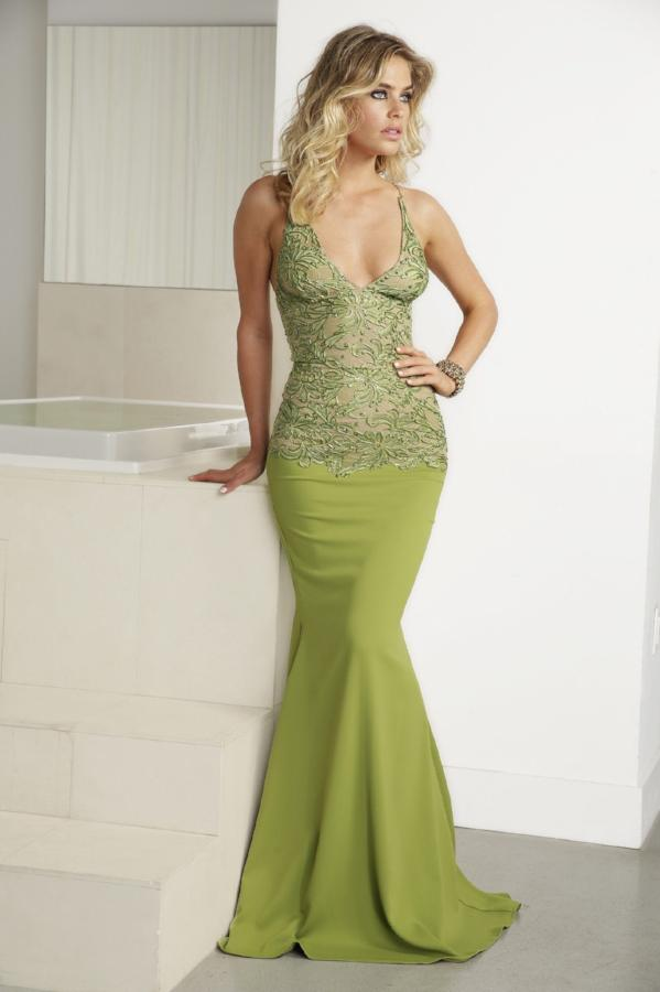 All Dresses - Baccio Gem Collection Nina Painted Caviar Long Dress