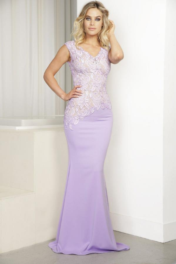 All Dresses - Baccio Gem Collection Rocio Painted Caviar Long Dress