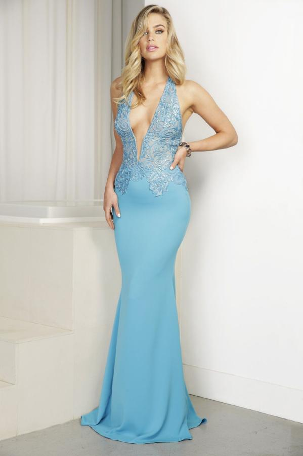 All Dresses - Baccio Gem Collection Sharon Painted Caviar Long Dress