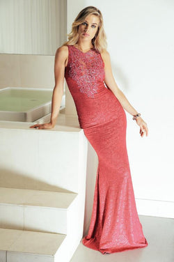 All Dresses - Baccio Gem Collection Tania Painted Caviar Long Dress
