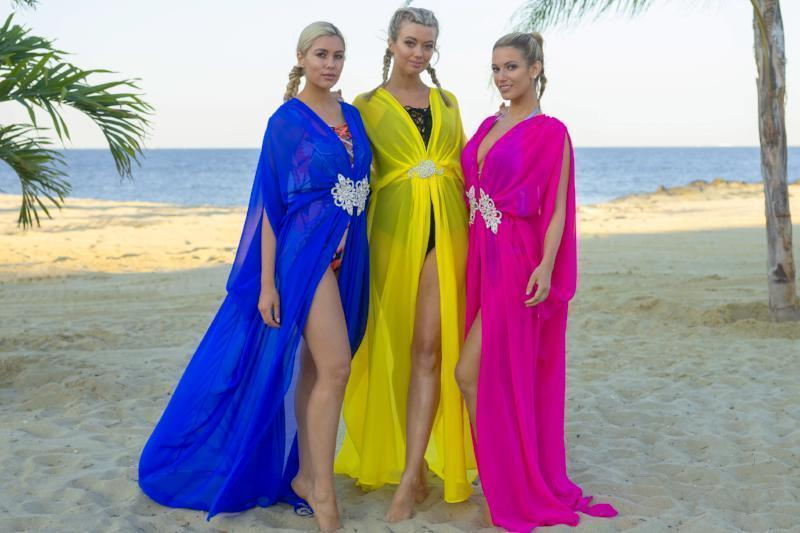 All Dresses - Ela Kaftans Embellished Long Kaftan