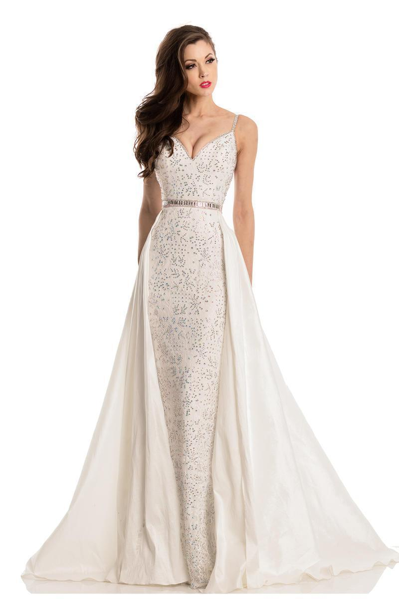 All Dresses - Johnathan Kayne Convertible Embellished Gown