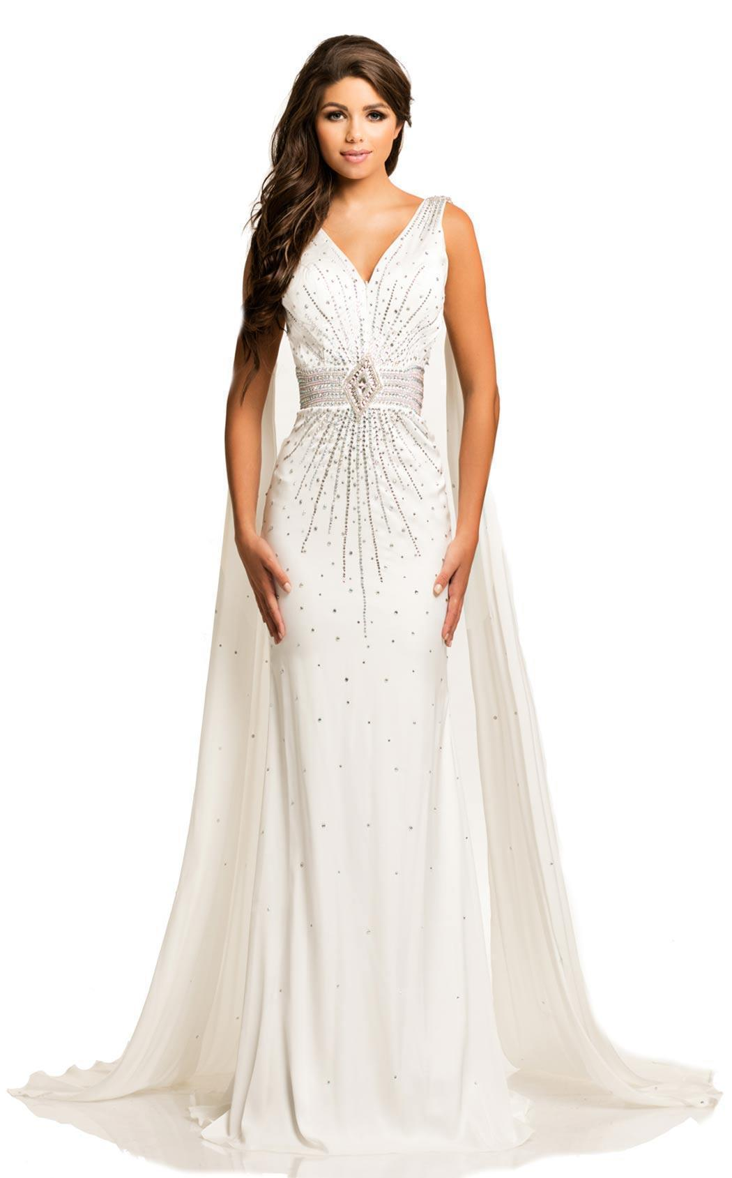 Johnathan Kayne Crystal Studded Evening Gown - ReveBoutique