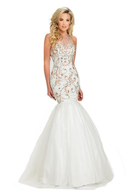 All Dresses - Johnathan Kayne Embellished Bodice Trumpet Gown