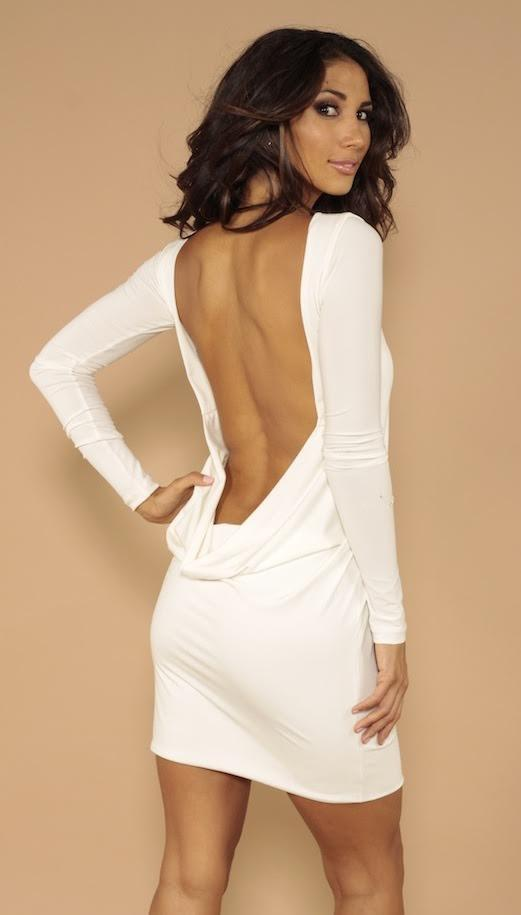 All Dresses - Leiluna Classic Backless Long Sleeve Dress