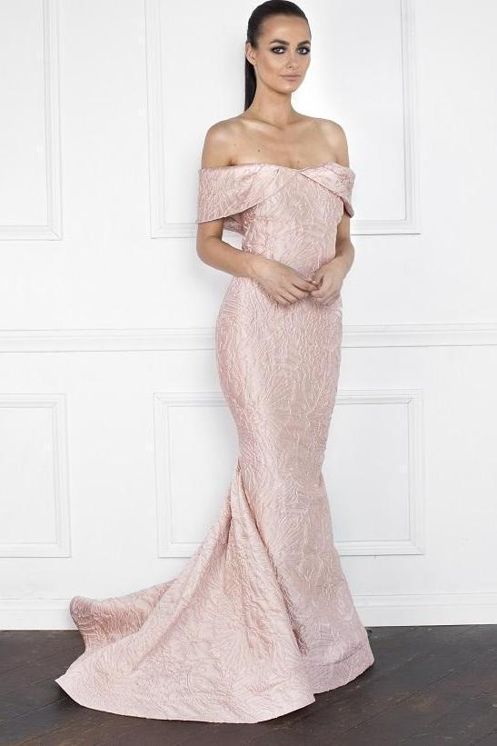 All Dresses - Nicole Bakti Off Shoulder Long Gown