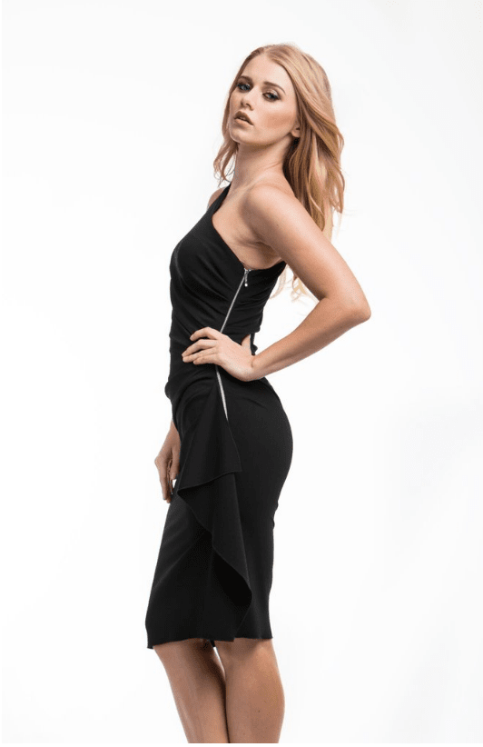 All Dresses - Nicole Bakti One Shoulder Cocktail Dress