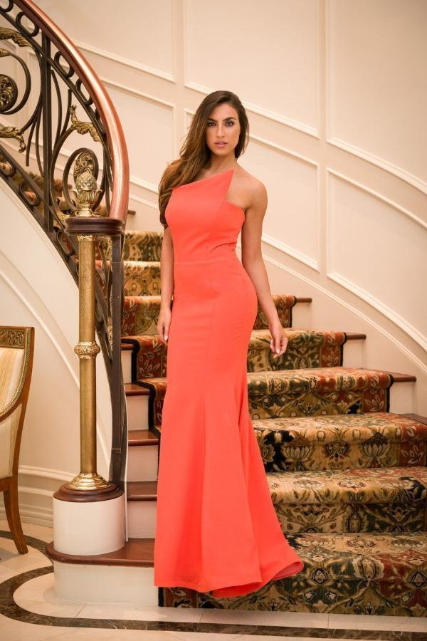 All Dresses - Nicole Bakti Sleeveless Mermaid Fitted Gown