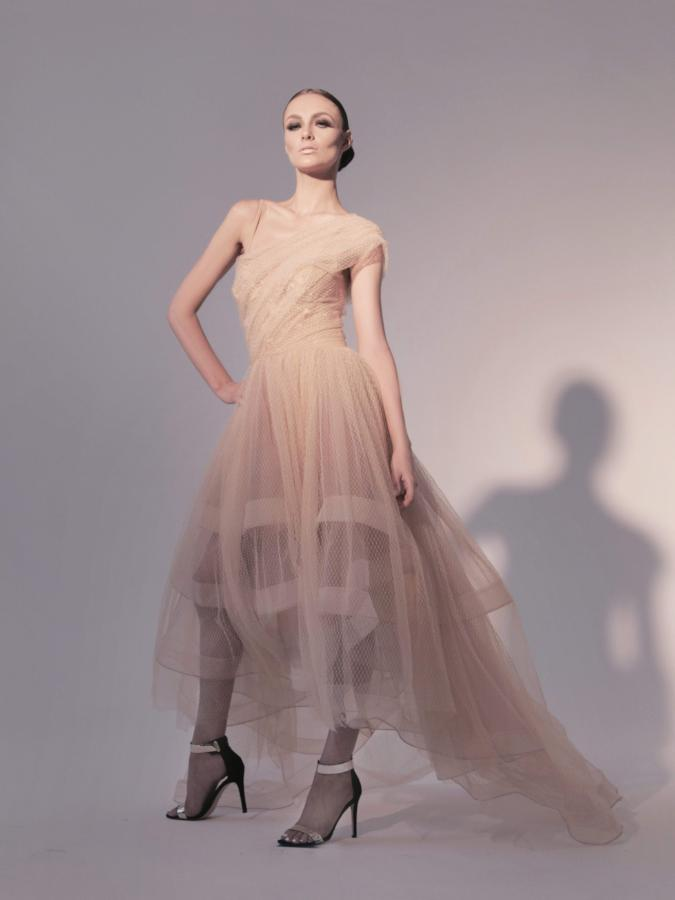 All Dresses - Nicole Bakti Tulle High Low Gown