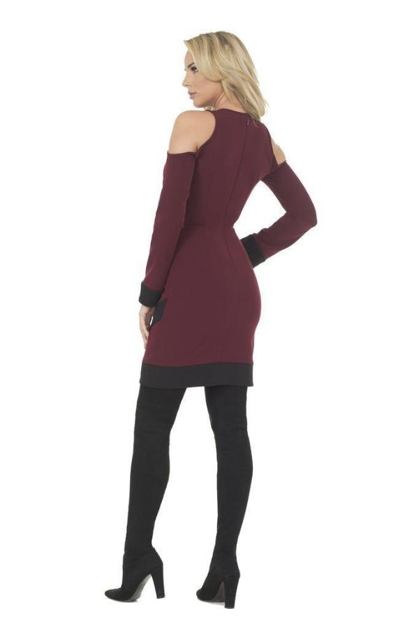 All Dresses - Posh Couture Cold Shoulder Dress