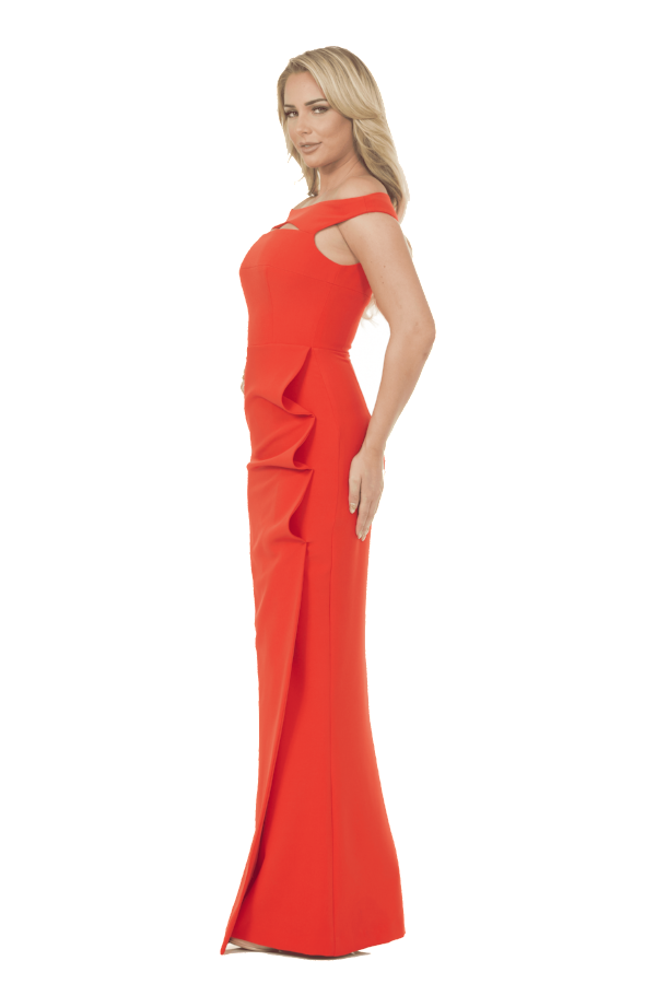 All Dresses - Posh Couture Cut Out Evening Gown