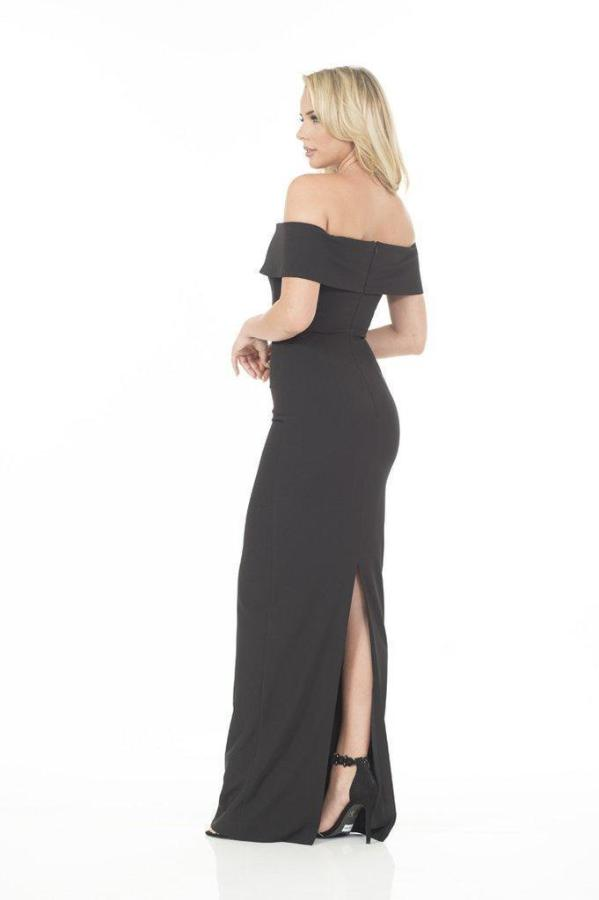 All Dresses - Posh Couture Off The Shoulder Evening Gown