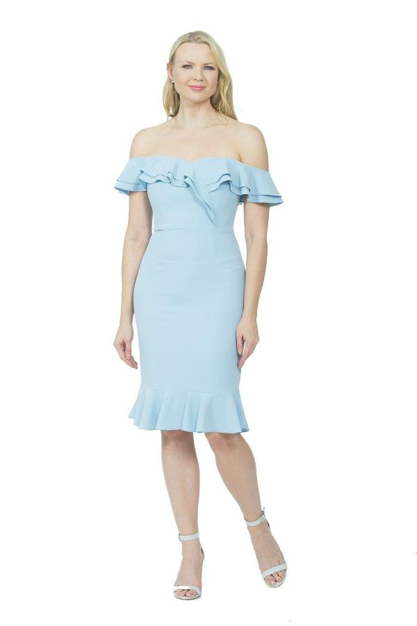 All Dresses - Posh Couture Off The Shoulder Ruffle Dress