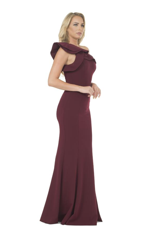 All Dresses - Posh Couture One Shoulder Evening Gown