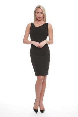 All Dresses - Posh Couture Ruched Neck Cocktail Dress