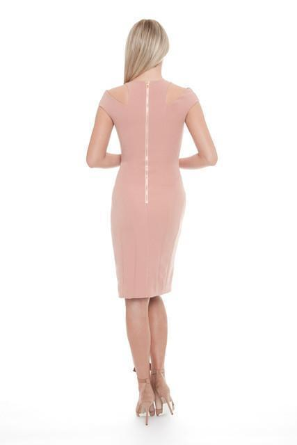 All Dresses - Posh Couture Shoulder Cut Out Cocktail Dress