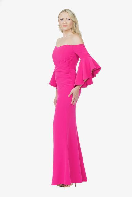 All Dresses - Posh Couture Sweet Heart Off The Shoulder Long Dress