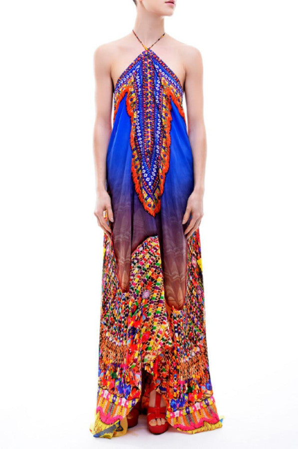 All Dresses - Shahida Parides Bohemian Tribal Print Dress