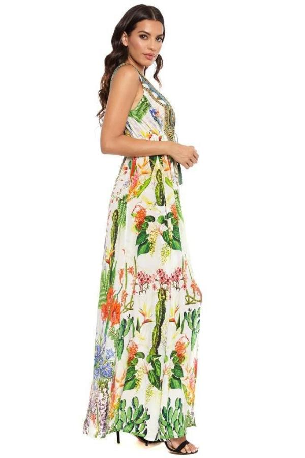 All Dresses - Shahida Parides Cactus Print Maxi Dress
